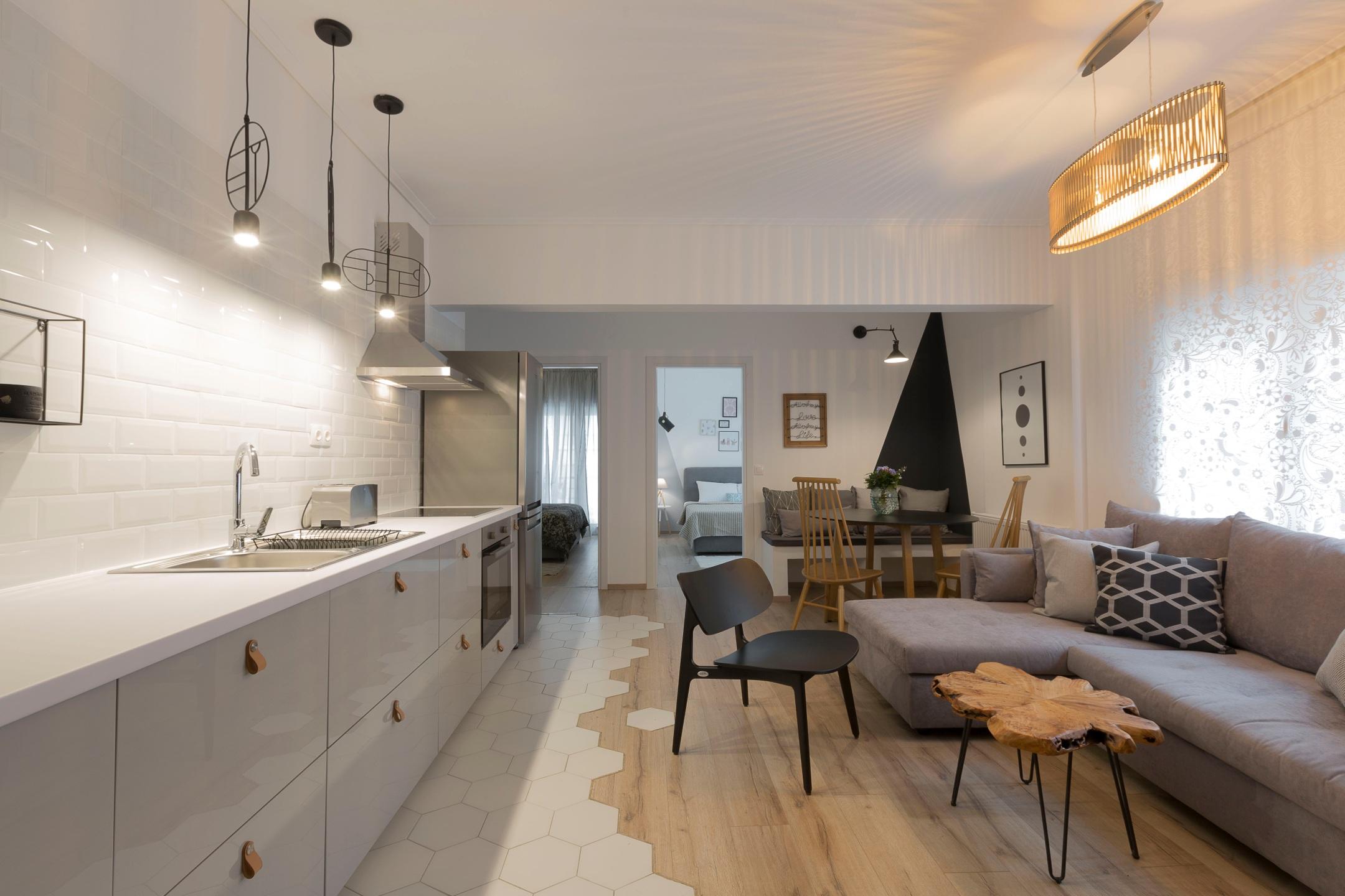 Scandi Chic Apartment, Agia Sofia District | FeelsLikeHome