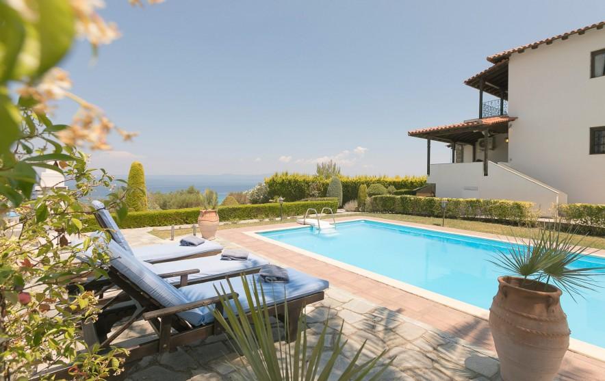 olive pool villa polychrono